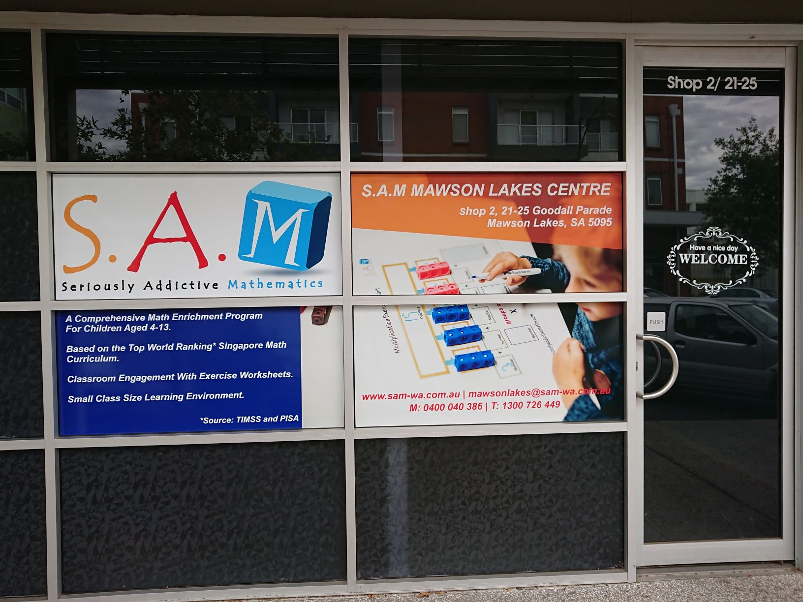 S.A.M Is Now In South Australia!  Check Out The Centre In Mawson Lakes…